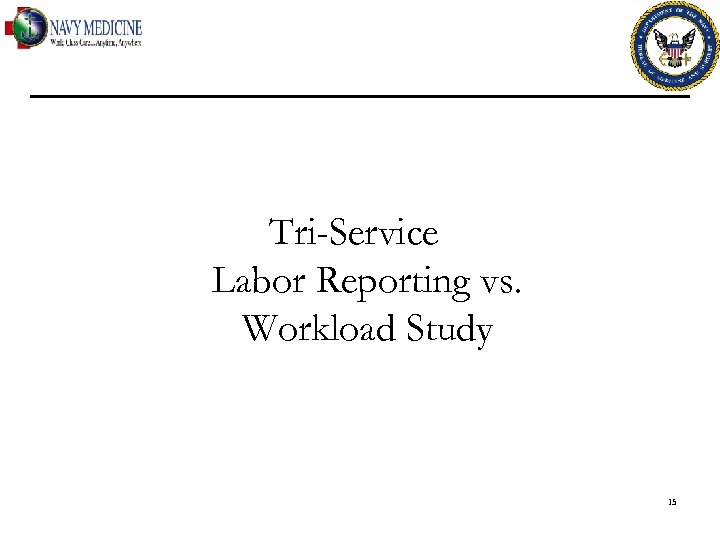 Tri-Service Labor Reporting vs. Workload Study 15