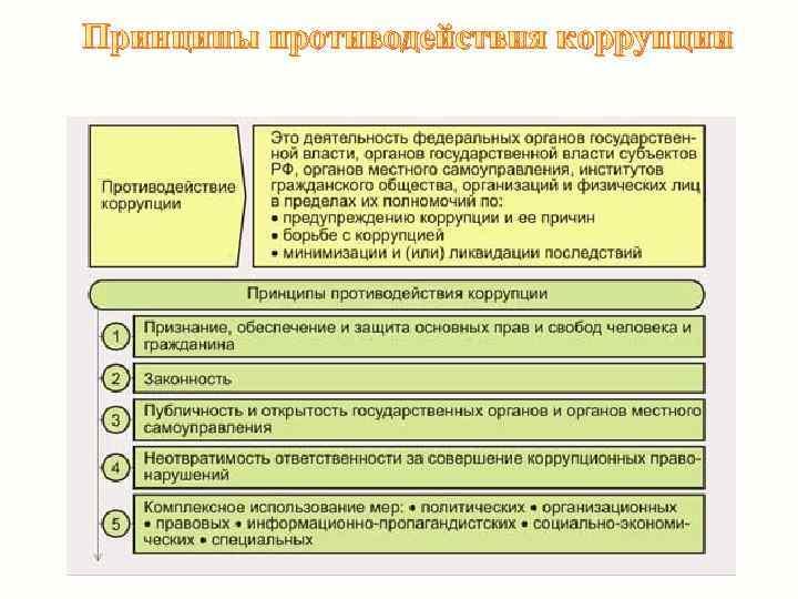 Принципы противодействия коррупции