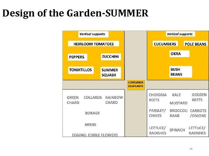 Design of the Garden-SUMMER 30