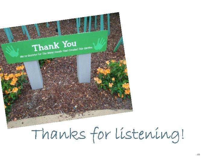 © 2012 Pam Hosimer Thanks for listening! 49