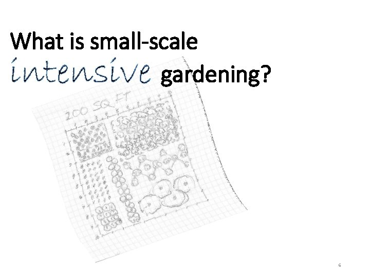What is small-scale intensive gardening? 6