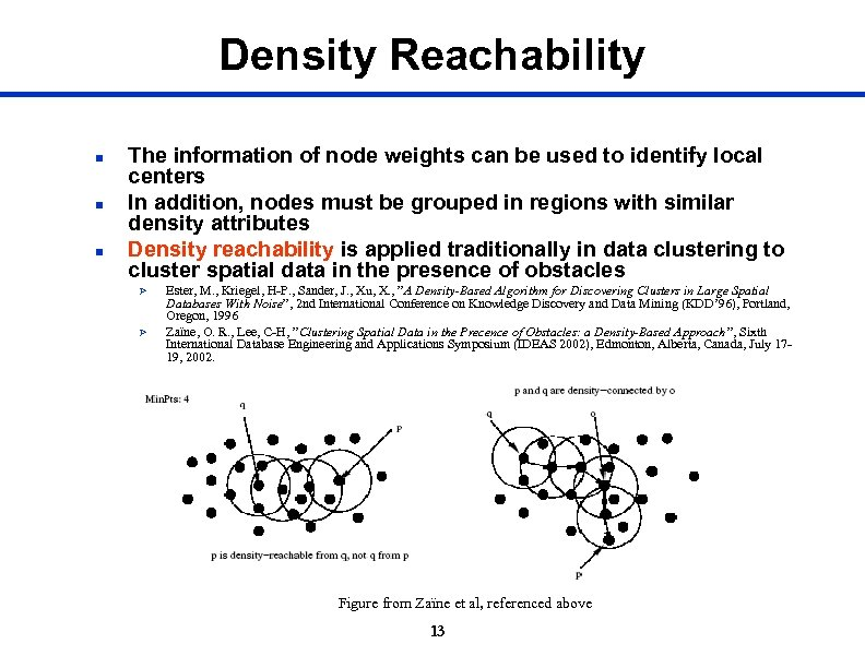 Density Reachability n n n The information of node weights can be used to