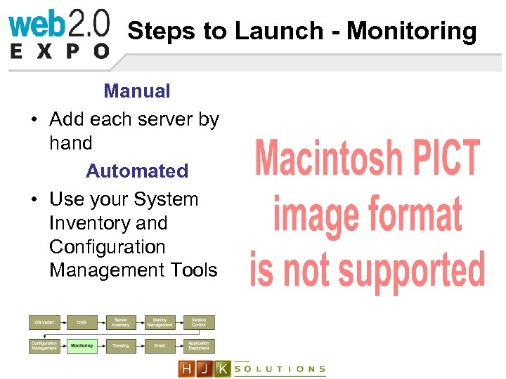 Steps to Launch - Monitoring Manual • Add each server by hand Automated •
