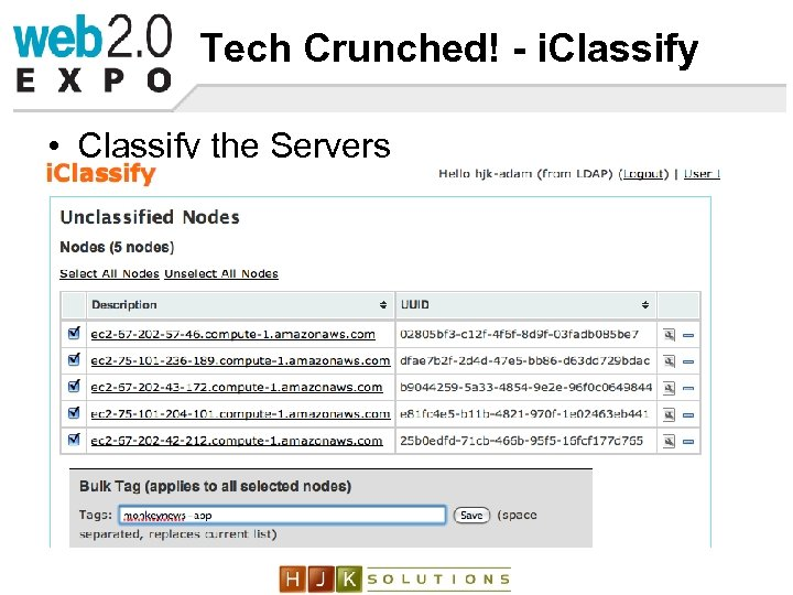 Tech Crunched! - i. Classify • Classify the Servers