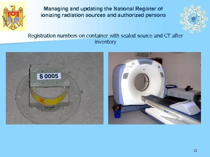 Managing and updating the National Register of ionizing radiation sources and authorized persons Registration