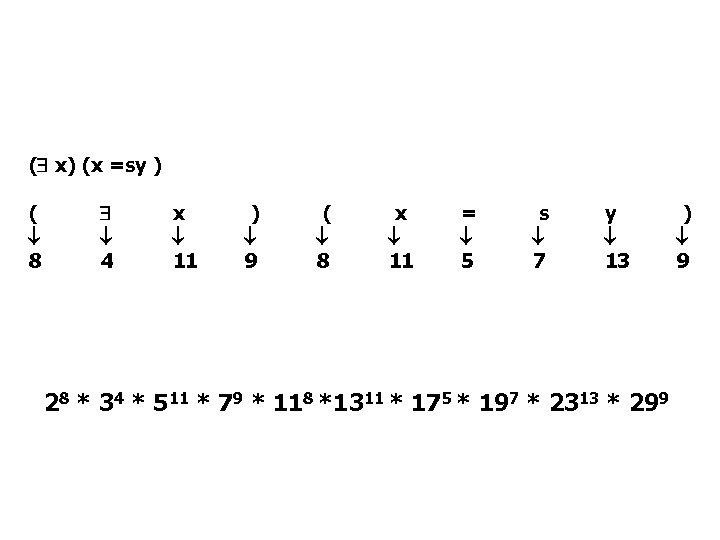 ( x) (x =sy ) ( 8 4 x 11 ) 9 ( 8