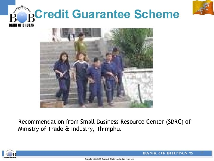 Credit Guarantee Scheme Recommendation from Small Business Resource Center (SBRC) of Ministry of Trade