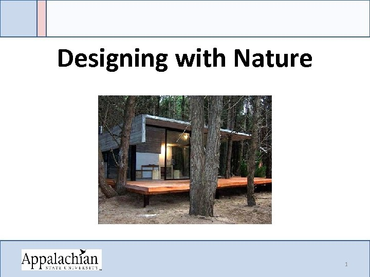 Designing with Nature 1
