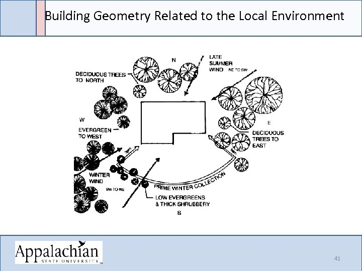 Building Geometry Related to the Local Environment 41