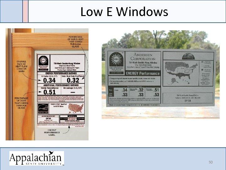 Low E Windows 50