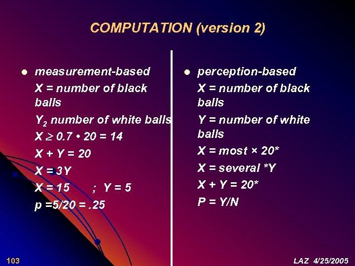 COMPUTATION (version 2) l 103 measurement-based X = number of black balls Y 2