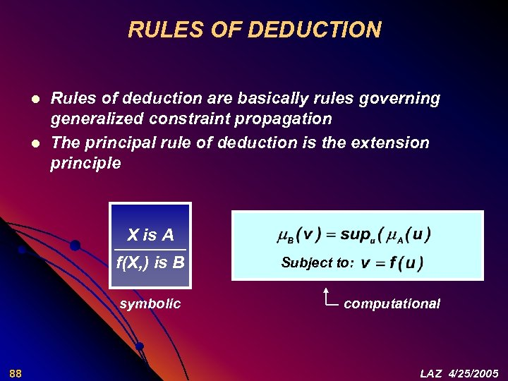 RULES OF DEDUCTION l l Rules of deduction are basically rules governing generalized constraint