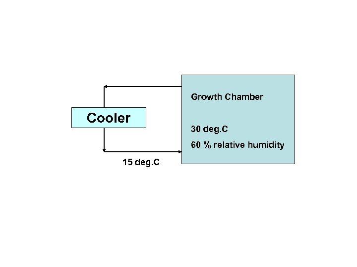 Growth Chamber Cooler 30 deg. C 60 % relative humidity 15 deg. C