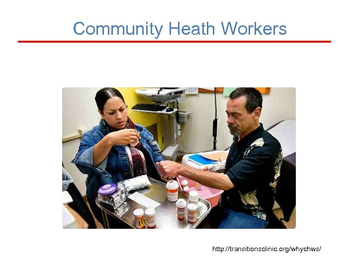 Community Heath Workers http: //transitionsclinic. org/whychws/