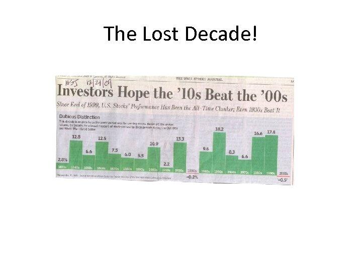 The Lost Decade!