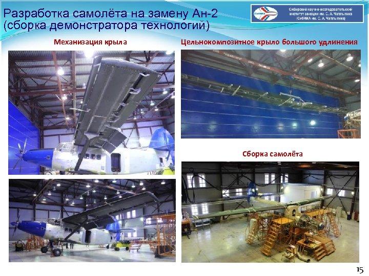 Разработка самолёта на замену Ан-2 (сборка демонстратора технологий) Механизация крыла Цельнокомпозитное крыло большого удлинения