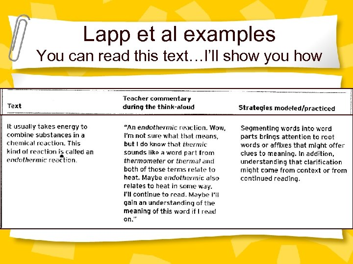 Lapp et al examples You can read this text…I'll show you how