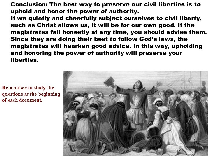 Conclusion: The best way to preserve our civil liberties is to uphold and honor