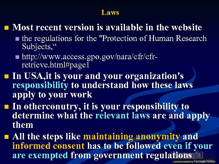 Laws n Most recent version is available in the website the regulations for the
