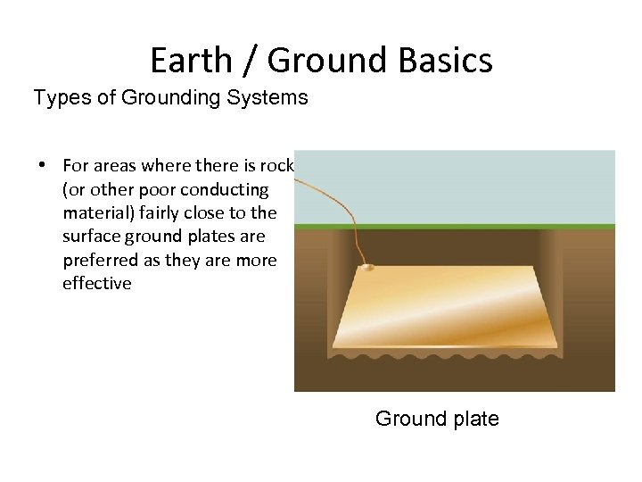 Earth / Ground Basics Types of Grounding Systems • For areas where there is