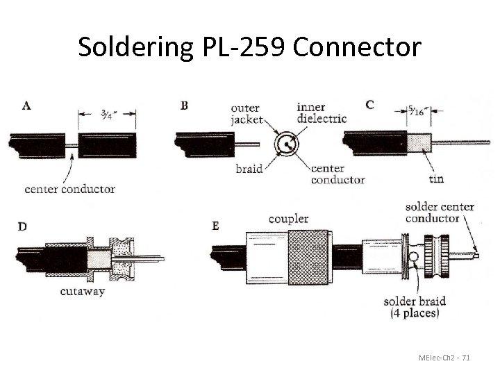 Soldering PL-259 Connector MElec-Ch 2 - 71