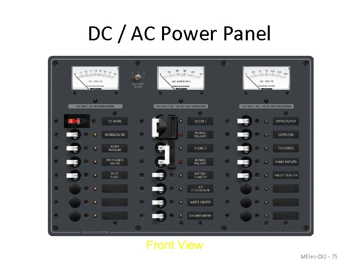 DC / AC Power Panel Front View MElec-Ch 2 - 75