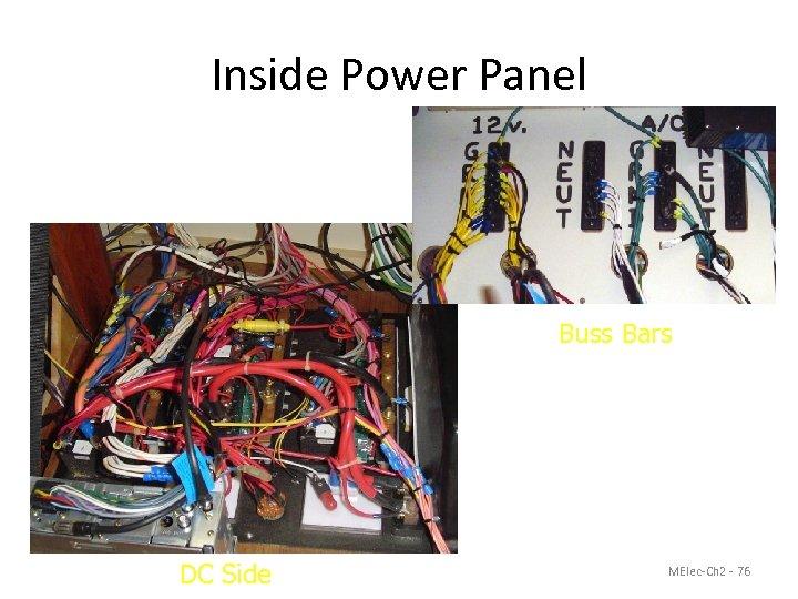 Inside Power Panel Buss Bars DC Side MElec-Ch 2 - 76