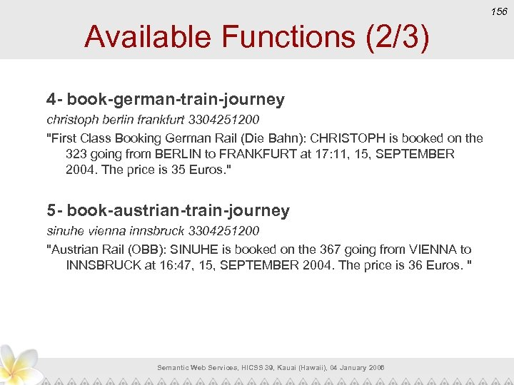 156 Available Functions (2/3) 4 - book-german-train-journey christoph berlin frankfurt 3304251200