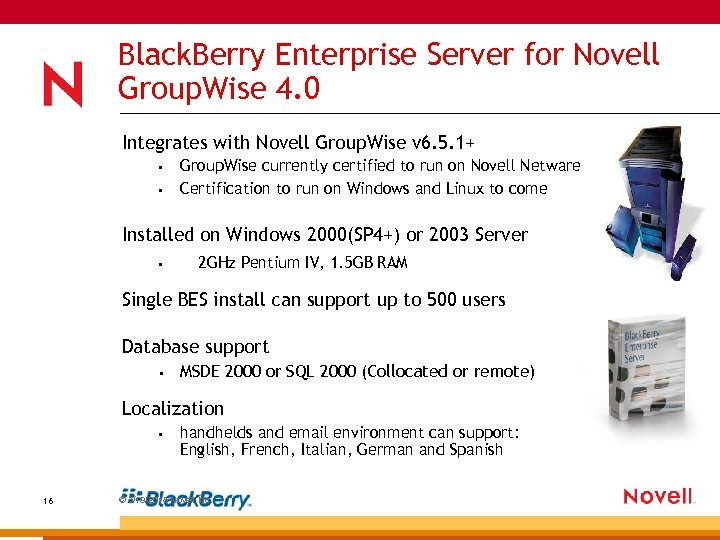 Black. Berry Enterprise Server for Novell Group. Wise 4. 0 Integrates with Novell Group.