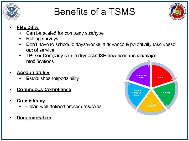 Benefits of a TSMS • Flexibility • Can be scaled for company size/type •