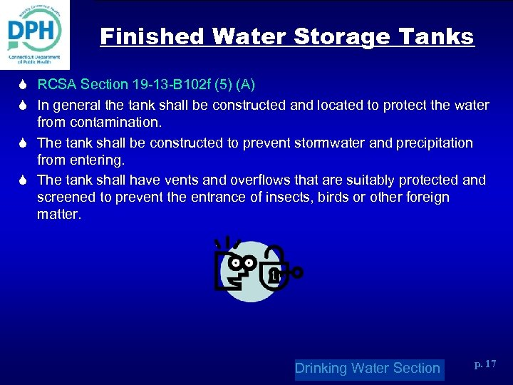 Finished Water Storage Tanks S RCSA Section 19 -13 -B 102 f (5) (A)