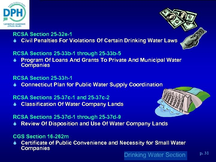 RCSA Section 25 -32 e-1 S Civil Penalties For Violations Of Certain Drinking Water