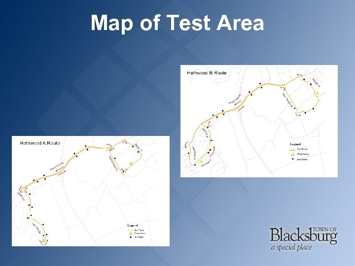 Map of Test Area