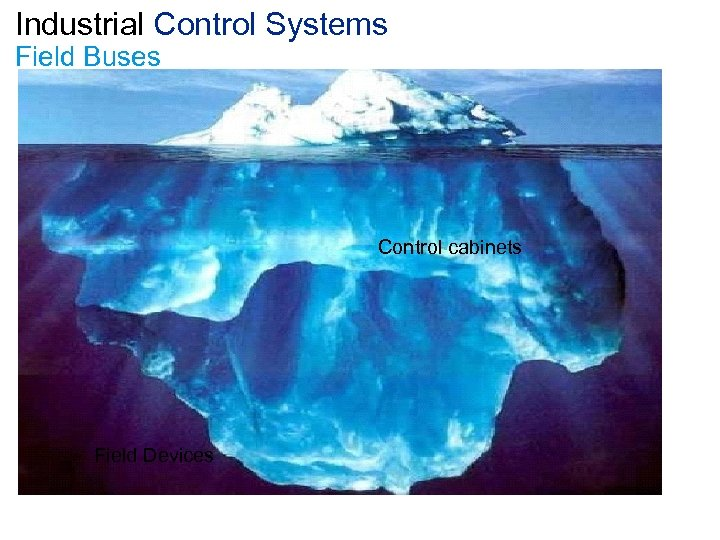 Industrial Control Systems Field Buses Control cabinets Field Devices