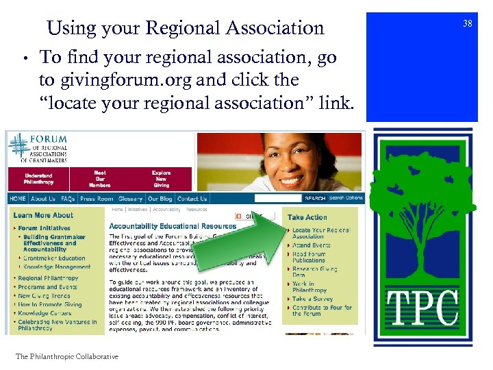 • Using your Regional Association To find your regional association, go to givingforum.