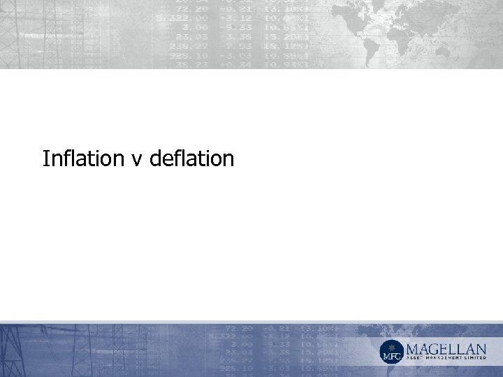 Inflation v deflation