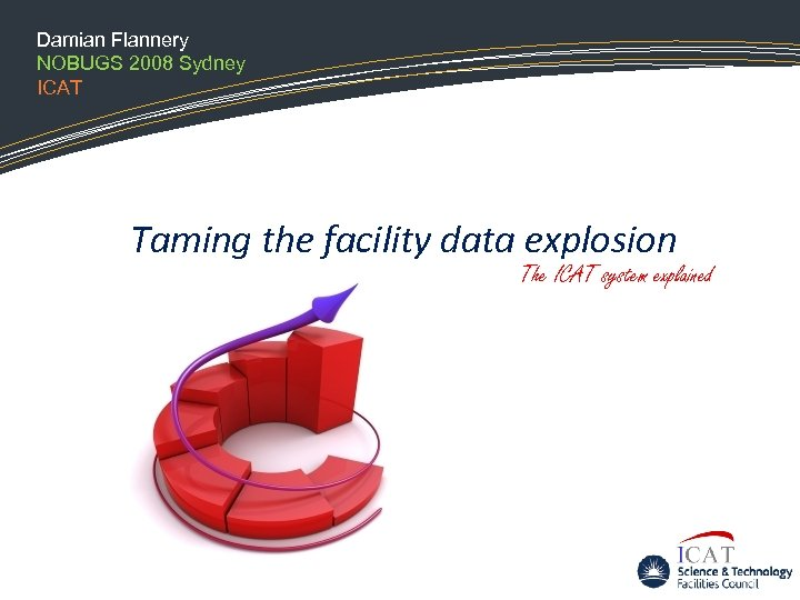 Damian Flannery NOBUGS 2008 Sydney ICAT Taming the facility data explosion The ICAT system