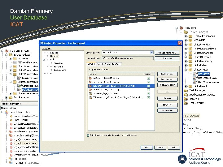 Damian Flannery User Database ICAT