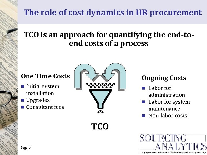 The role of cost dynamics in HR procurement TCO is an approach for quantifying