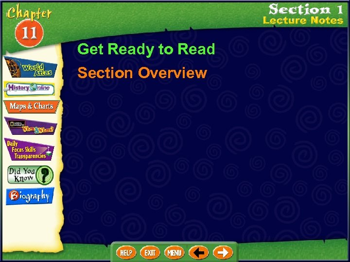 Get Ready to Read Section Overview