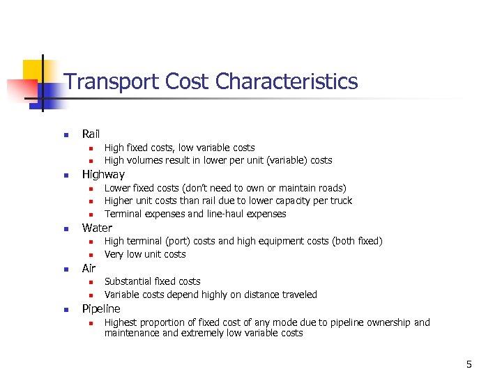 Transport Fundamentals n n n This chapter considers