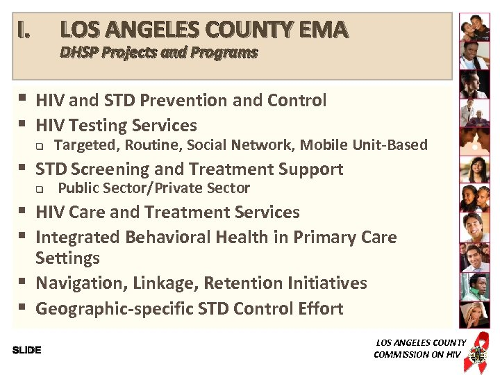 I. LOS ANGELES COUNTY EMA DHSP Projects and Programs § HIV and STD Prevention