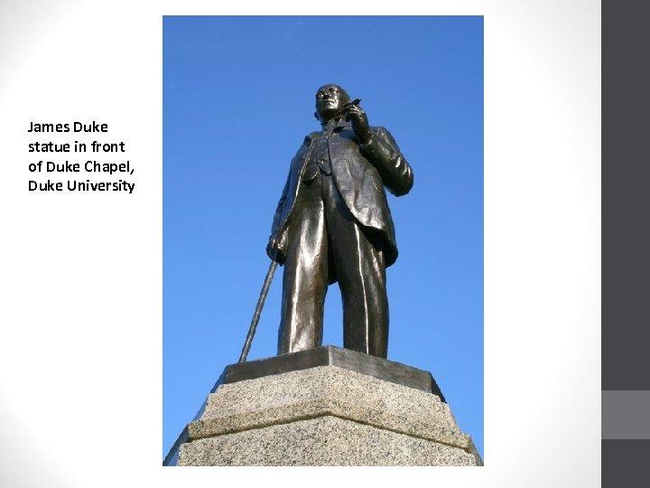 James Duke statue in front of Duke Chapel, Duke University