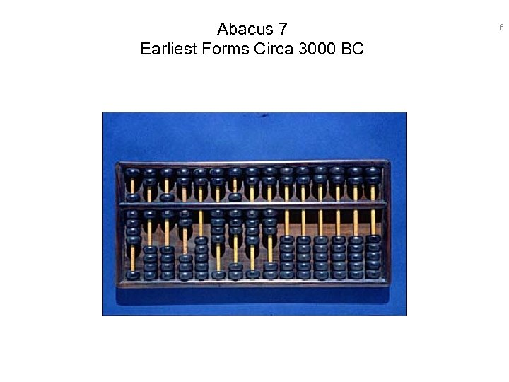 Abacus 7 Earliest Forms Circa 3000 BC 6