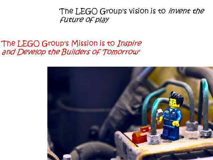 The LEGO Group's vision is to invent the future of play The LEGO Group's