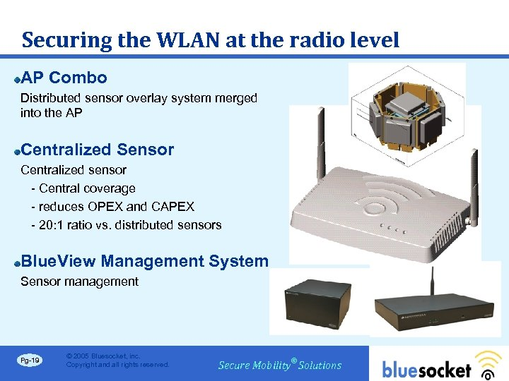 Securing the WLAN at the radio level AP Combo Distributed sensor overlay system merged