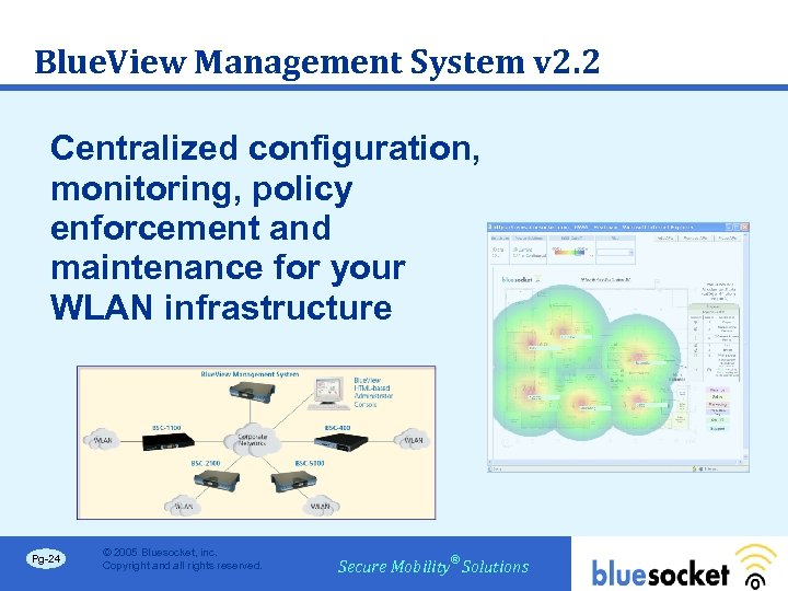 Blue. View Management System v 2. 2 Centralized configuration, monitoring, policy enforcement and maintenance