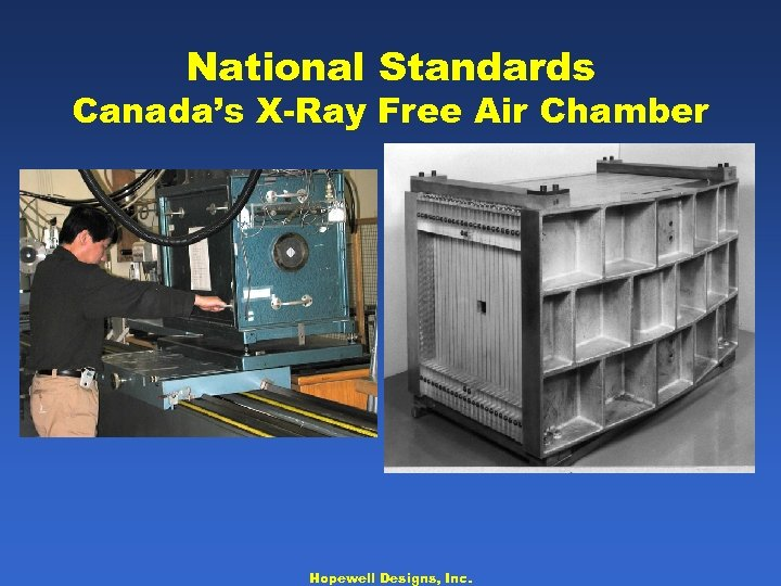 National Standards Canada's X-Ray Free Air Chamber Hopewell Designs, Inc.