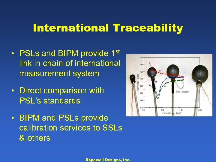 International Traceability • PSLs and BIPM provide 1 st link in chain of international