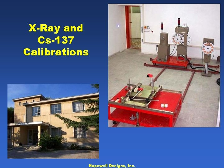 X-Ray and Cs-137 Calibrations Hopewell Designs, Inc.